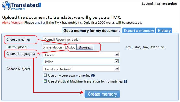 MyMemory - Google Translator Toolkit Integration