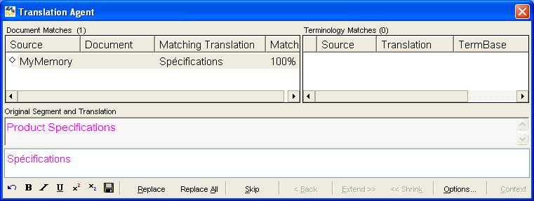 mymemory multitrans integration